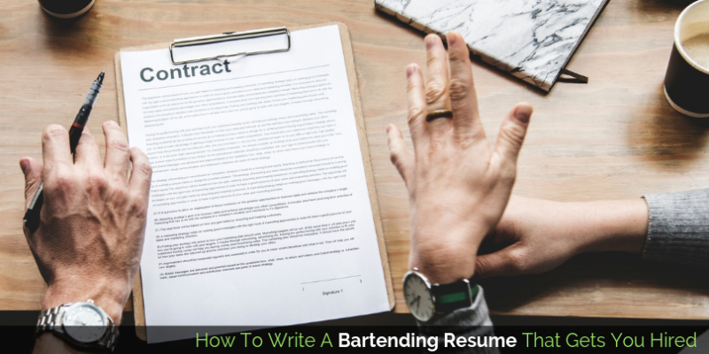 Bartending Resume